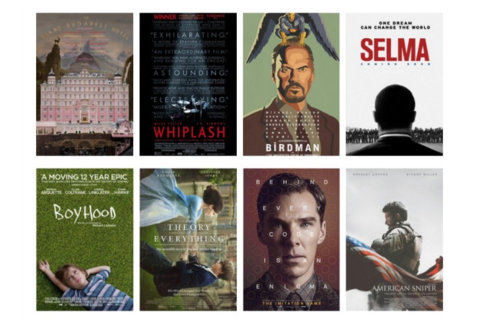 Here are the 2015 oscar nominations for best picture
