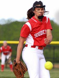 Souderton's Alex Scheeler pitches to Abington (Bob Raines--Montgomery Media)